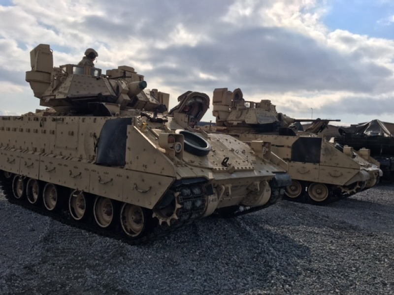 The Equipment of the US Troops Arrive at Novo Selo JTF in Bulgaria (photo feature)