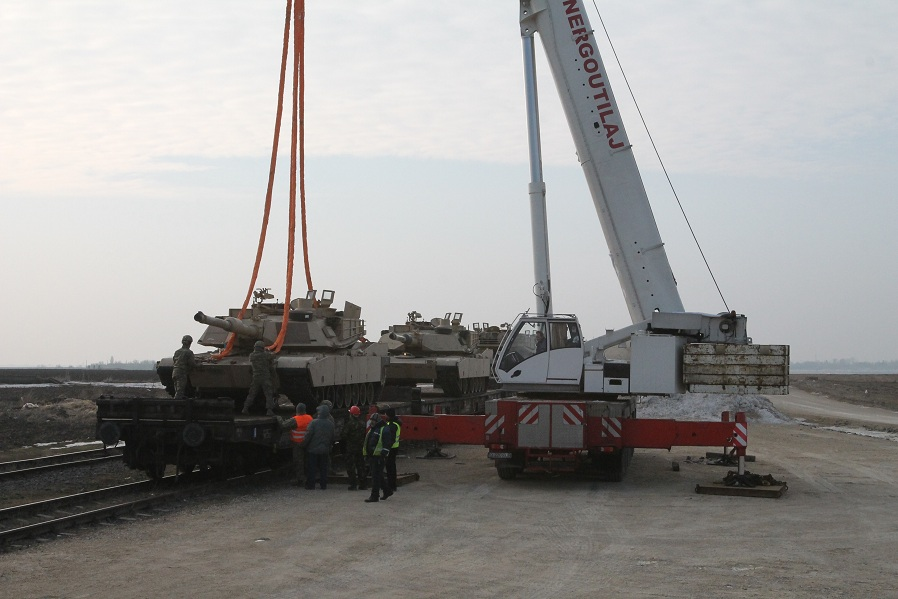 """The Equipment of the US Troops Arrive at """"Mihail Kogalniceanu"""" Air Base in Constanta County"""