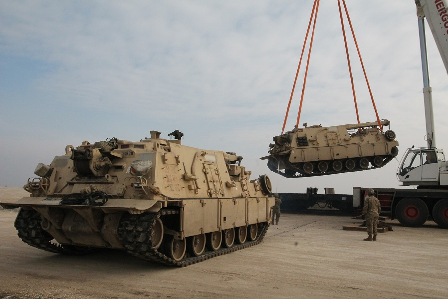 "The Equipment of the US Troops Arrive at ""Mihail Kogalniceanu"" Air Base in Constanta County"
