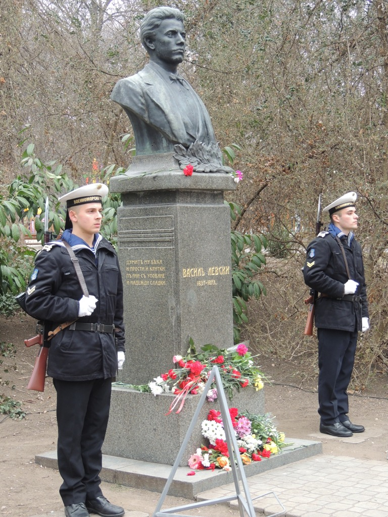 Photo feature: Bulgarian Navy participates in a ceremony dedicated to national hero and revolutionary Vasil Levski