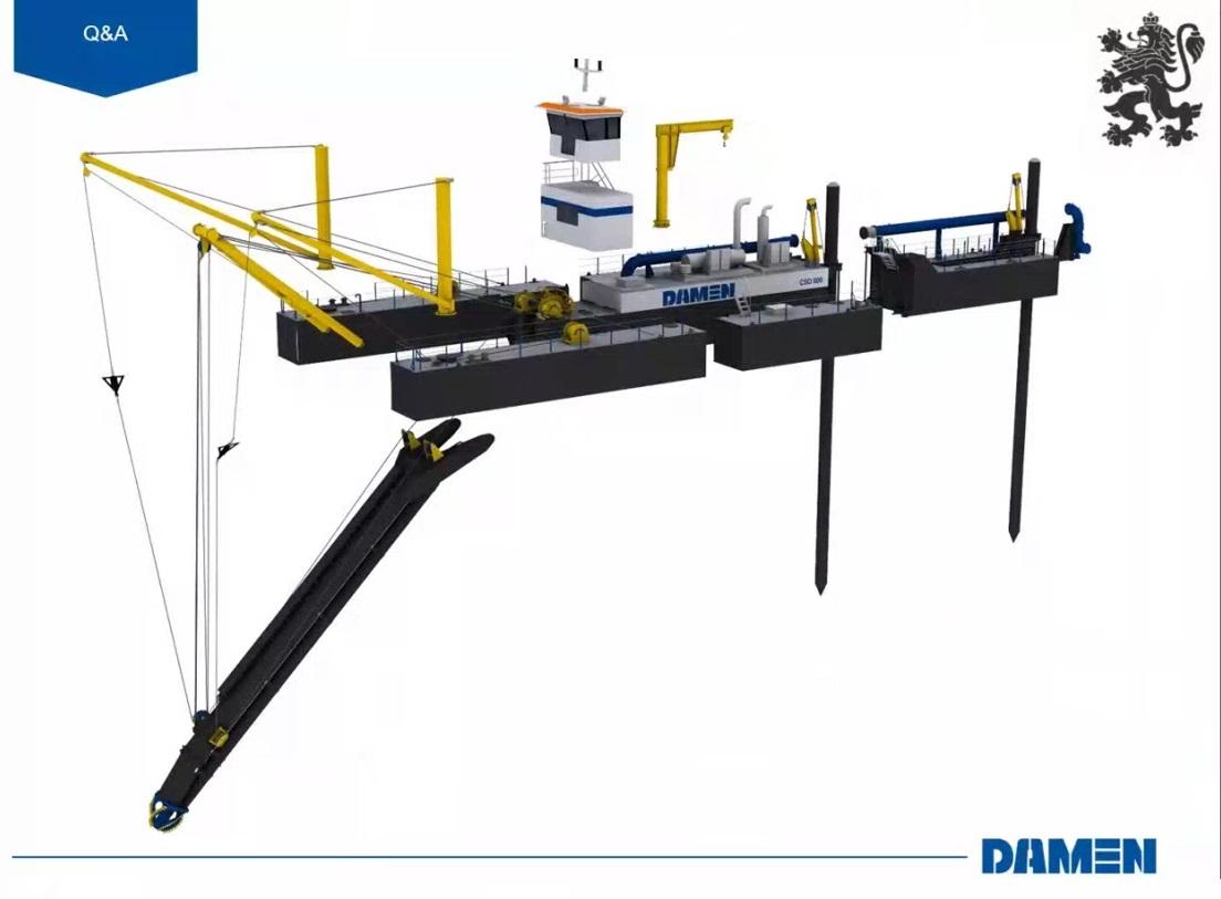 """До края на март ще завърши изграждането на новата драга на ИАППД от холандската корабостроителница """"Дамен"""""""