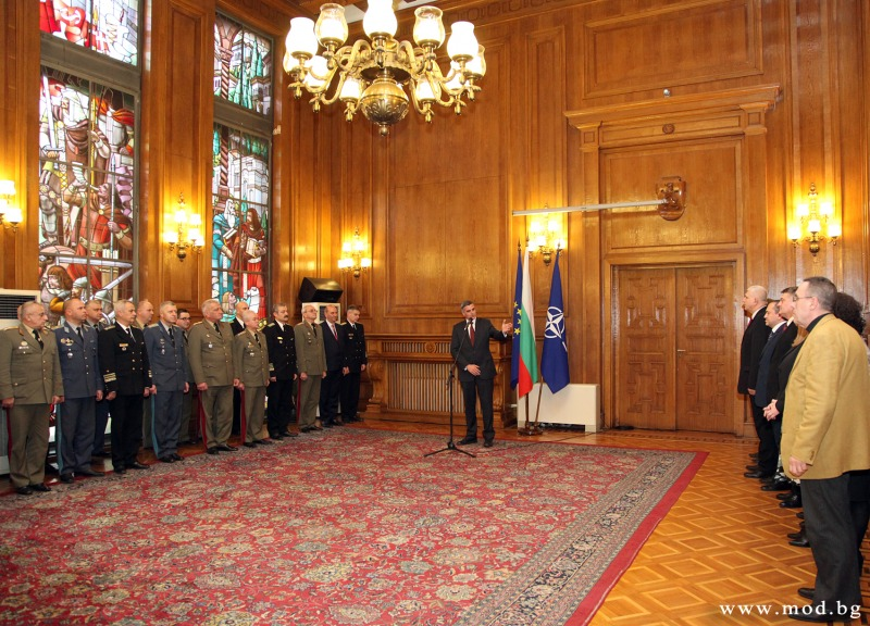 Newly Appointed Bulgarian Minister of Defense presents his cabinet