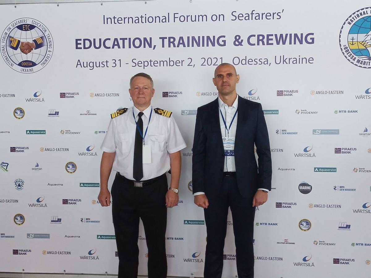 Снимки: Морско училище участва в международен форум за обучение на корабни екипажи