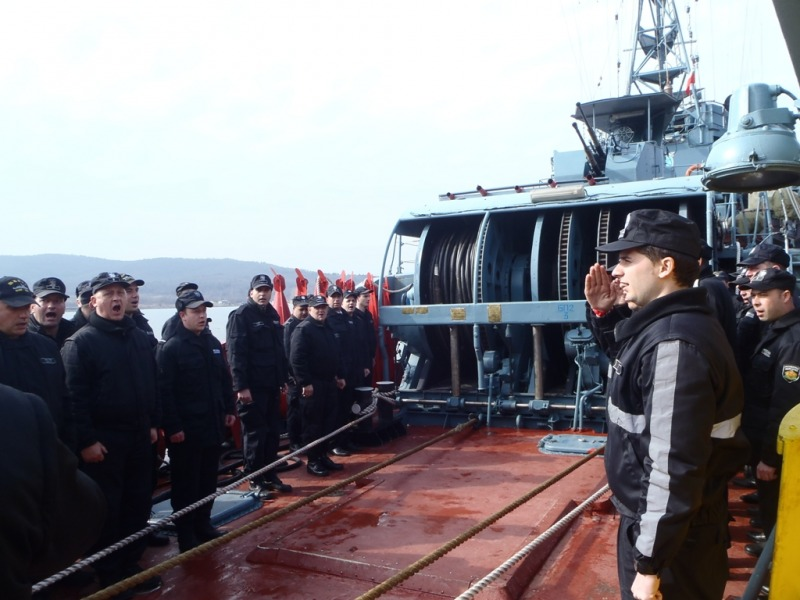 BGS Priboy returns to Bulgaria after participating in the naval exercise Poseidon 2017 hosted by Romania