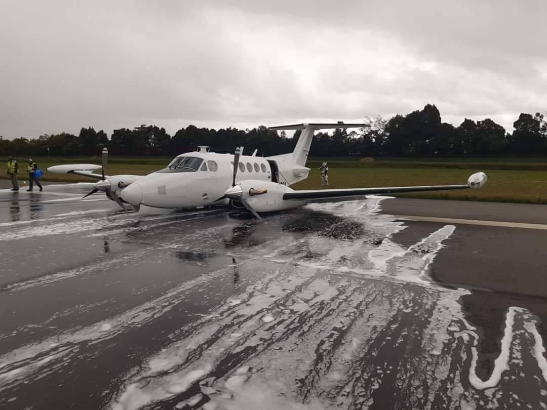 Аварийно кацане в Богота на самолет на американската агенция за борба с наркотици (видео)