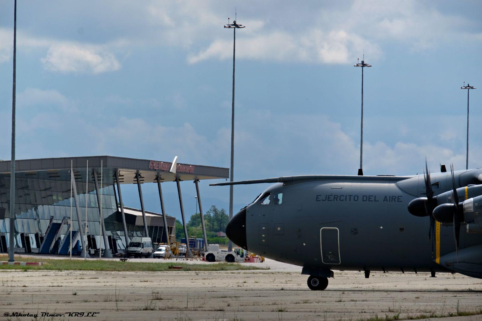 Испански ВТС А400М отново на Летище Пловдив (фотогалерия)