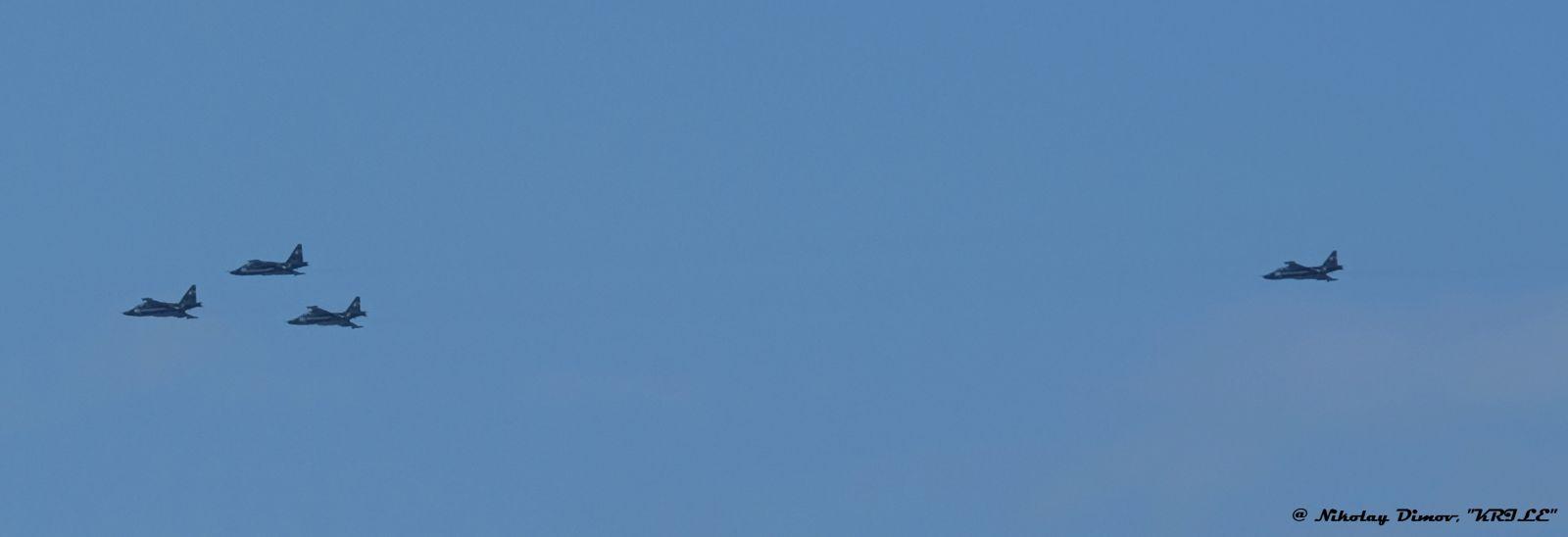 ГОЛЯМА ГАЛЕРИЯ: Пребазиране на самолети в авиобаза Граф Игнатиево за участие във въздушните демонстрации по случай 6 май