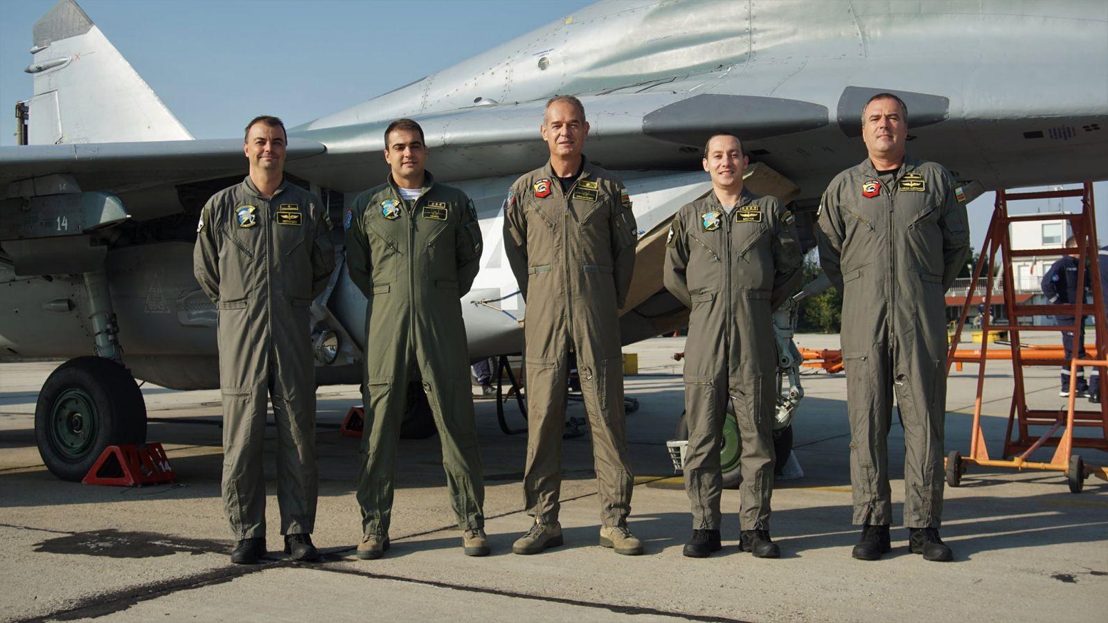 ЗАПОЧНА КУРС ЗА ПРИУЧВАНЕ НА МИГ-29 НА ДВАМА ЛЕТЦИ  ОТ АВИОБАЗА ГРАФ ИГНАТИЕВО