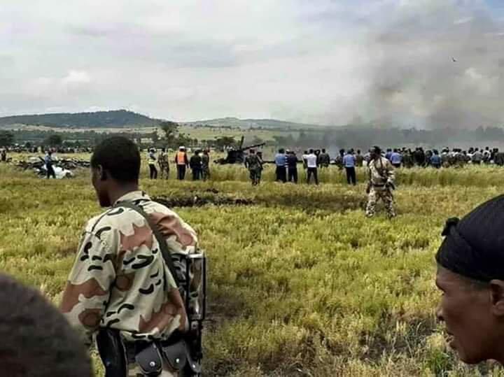 Изтребител Су-27УБК се е разбил в Етиопия