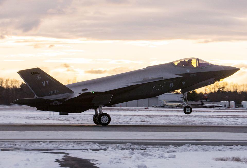 Въздушната национална гвардия на Вермонт получи поредната партида F-35A