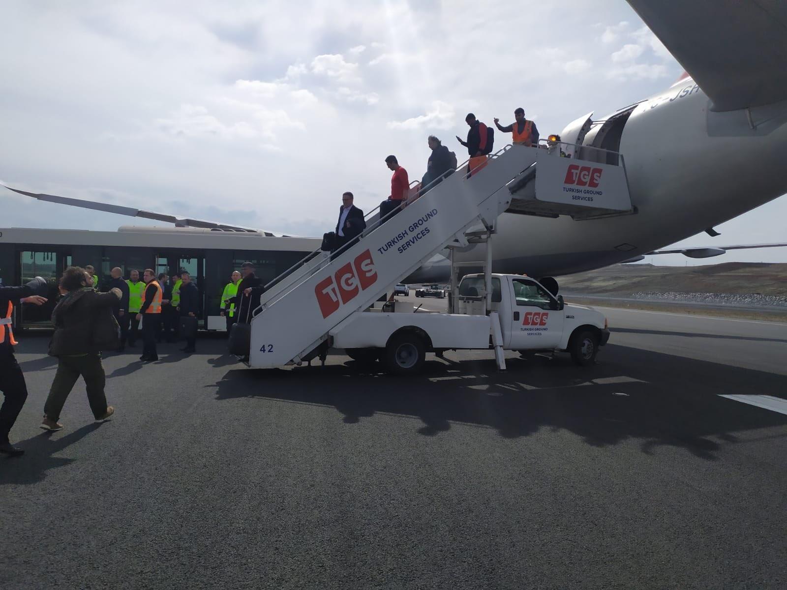 Инцидент с турски пътнически самолет А321 при кацане