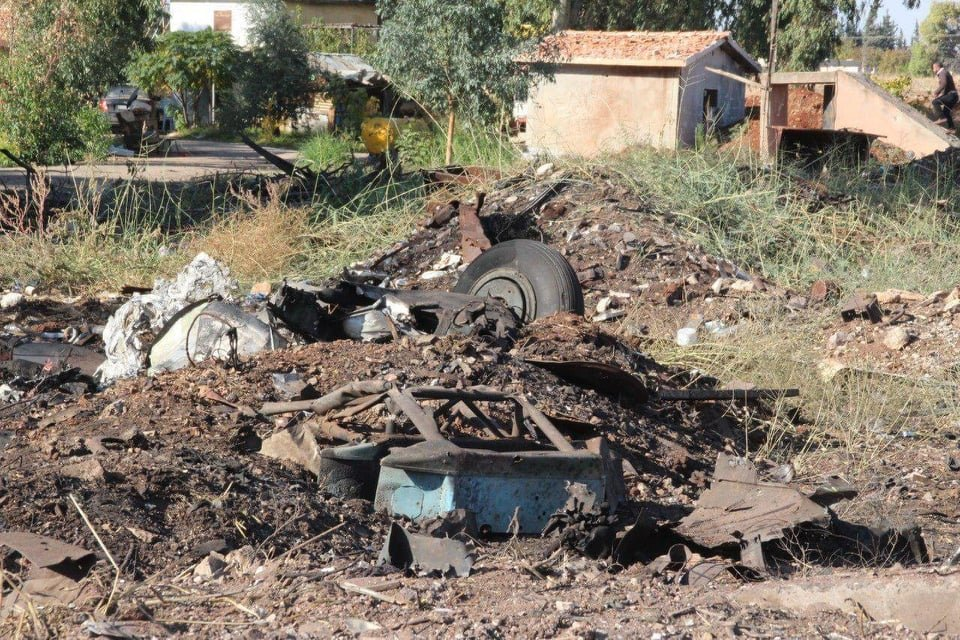 Сирийски вертолет Ми-8/17 се е взривил във въздуха малко след излитане