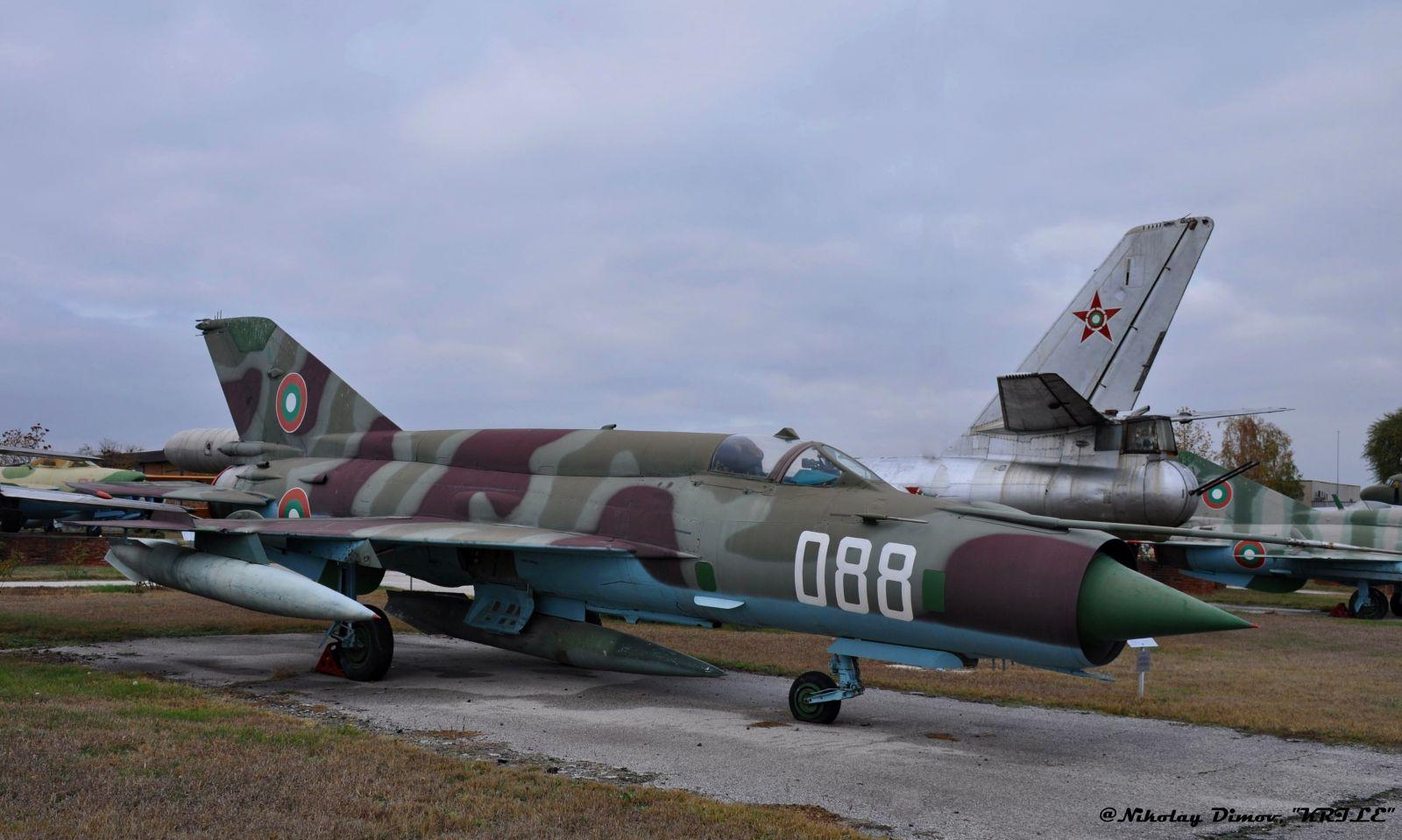 """Изтребителите на българските ВВС - МиГ-21бис борд """"088"""""""