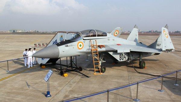 изтребител МиГ-29КУБ на индийските ВВС