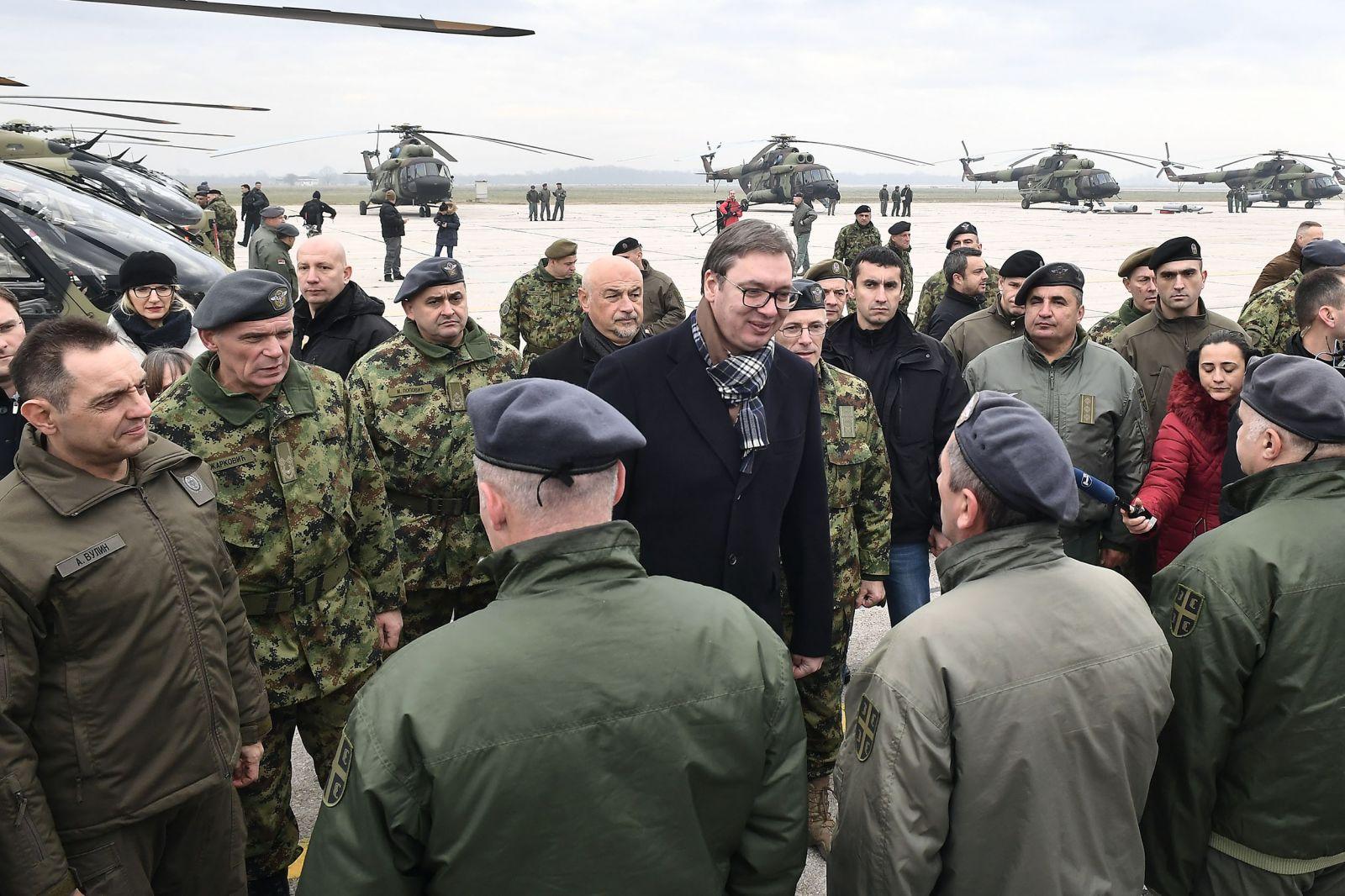 Сръбският президент разгледа новодоставените Ми-17, Ми-35 и H145М