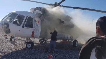 Аварийно кацане на хеликоптер Ми-8 в Афганистан след като е бил улучен от ракета (снимки)