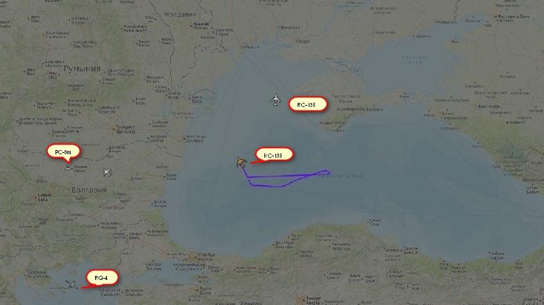 Продължават разузнавателните полети на американски самолети в близост до Русия (снимки)