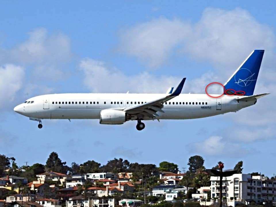 Пореден инцидент с Boeing В737 – изпаднали панели от опашната част по време на полет