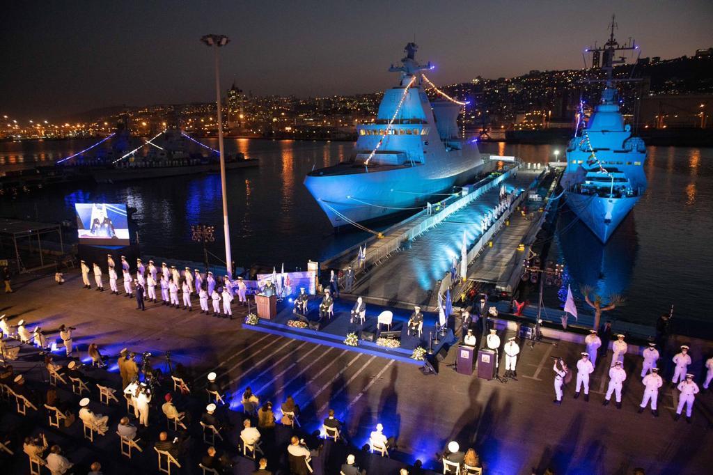 Израелските ВМС получиха първата нова корвета Magen от проекта Saar 6 видео_фотогалерия)
