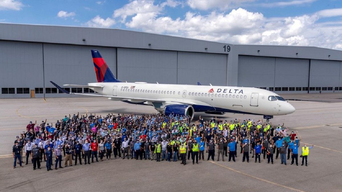 Airbus достави първия A220 сглобен в Мобайл (САЩ)