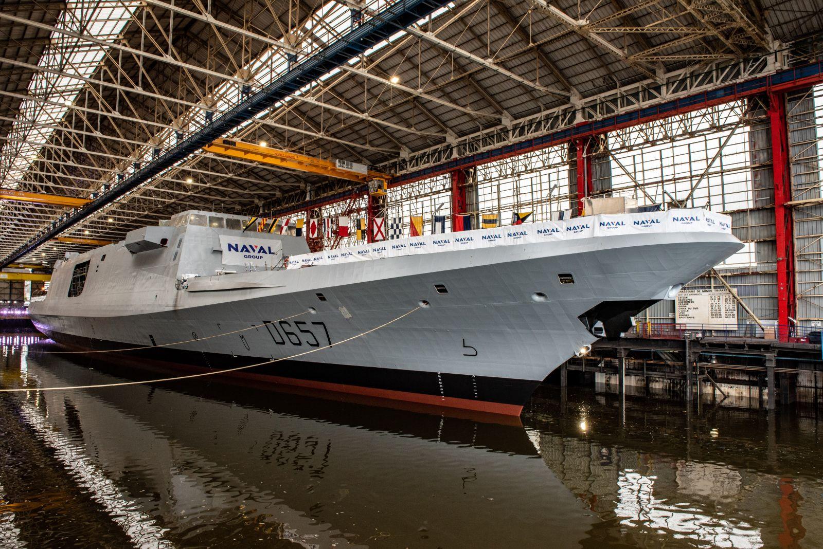Naval Group спусна на вода FREMM Lorraine, втората фрегата, с подобрени способности за ПВО (ГОЛЯМА ЕКСКЛУЗИВНА ГАЛЕРИЯ)