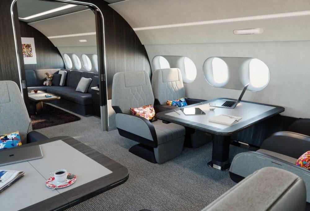 Летящото имение - поглед отвътре към концептуалния корпоративен джет Airbus ACJ220