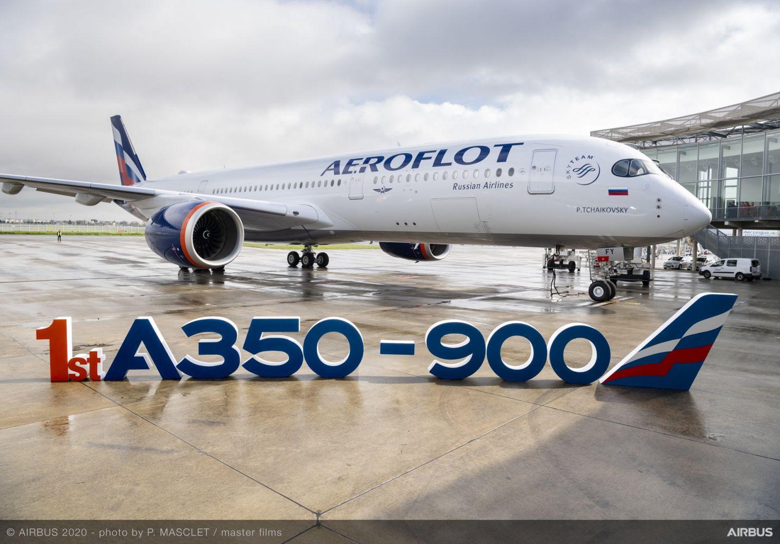 Аэрофлот празнува една година експлоатация на Airbus A350 (ГАЛЕРИЯ)
