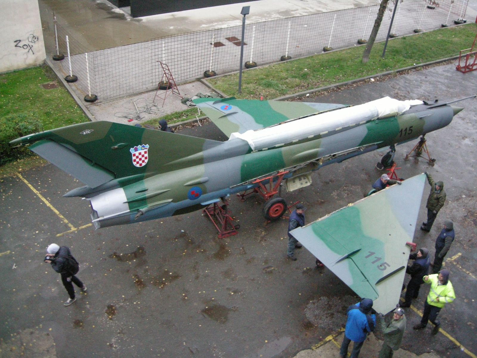 MiG-21bisD for the anniversary of the Faculty of Aerospace Engineering in Zagreb