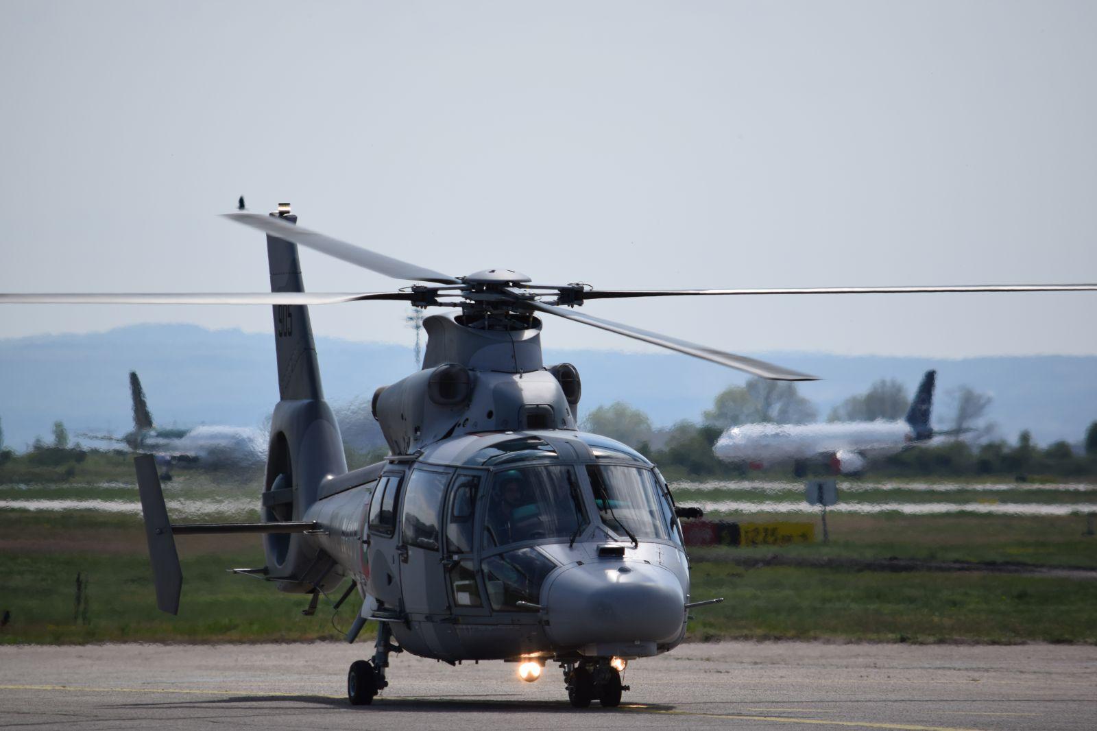 Пребазиране на летище Враждебна за 6 май - Ден на храбростта и празник на българската армия. Част 3 - AS565MB Panther и AS365N3+ Dauphine (ОГРОМНА ЕКСКЛУЗИВНА АВИАЦИОННА ГАЛЕРИЯ)