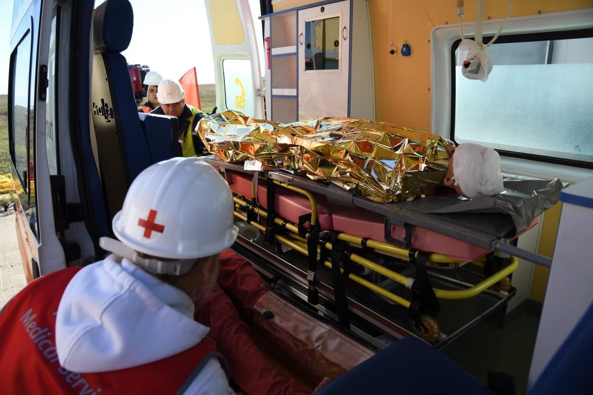 На летище Бургас се проведе Пълномащабна аварийно-спасителна тренировка (ЕКСКЛУЗИВНА ЛЕТИЩНА ГАЛЕРИЯ)