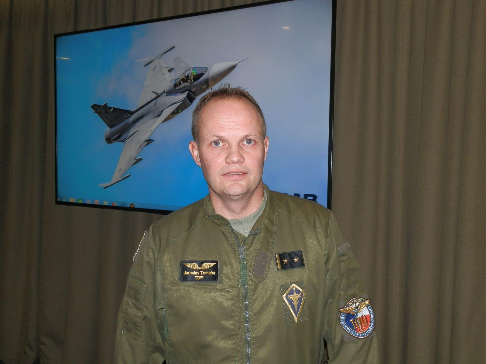 Подполковник   Ярослав  Томана :  Gripen C/D е прекрасен самолет