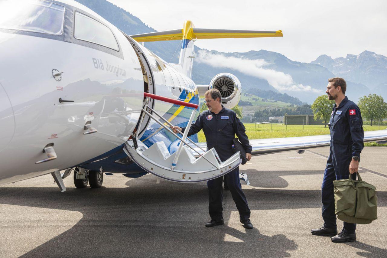 Успешен първи полет на шведският PC-24 Medevac