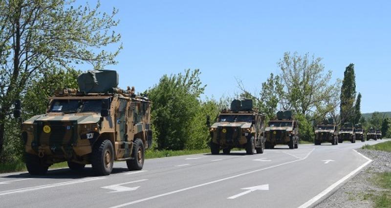 Започна придвижването през нашата страна на турски войски за учението на НАТО Steadfast Defender-21