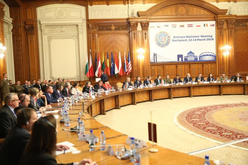 Среща на министрите на отбраната на държавите от формат Б 9 се проведе в Букурещ, Румъния (ГАЛЕРИЯ)