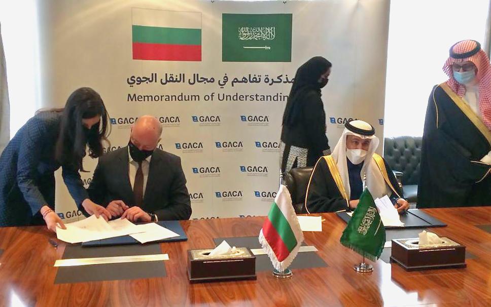 Министър Росен Желязков подписа спогодба за въздушен транспорт с Кралство Саудитска Арабия