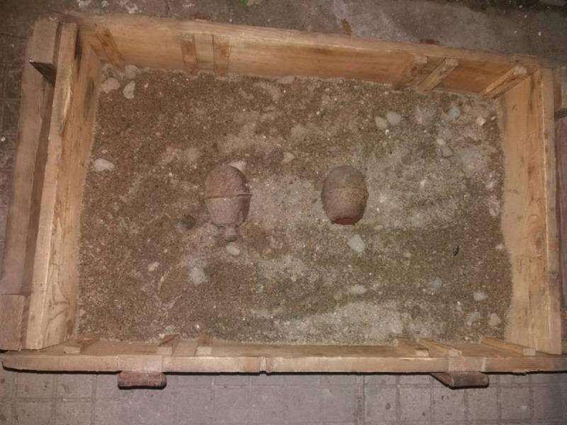 Военнослужещи от Сухопътните войски унищожиха две ръчни гранати, открити в с. Садовец, област Плевен