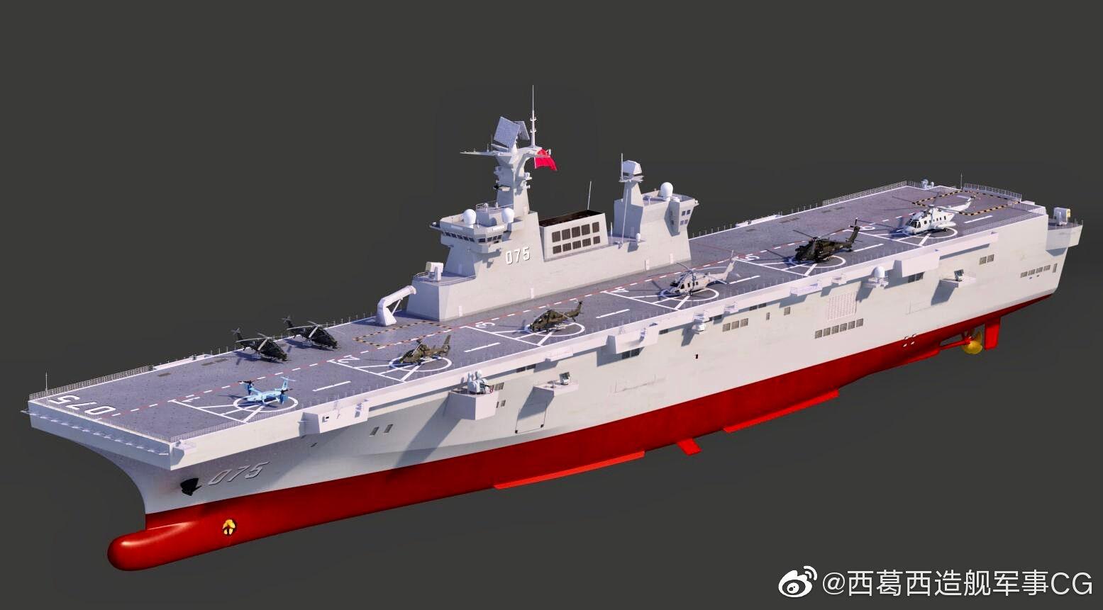 Китай ще спусне на вода втори десантен ударен кораб (ЕКСКЛУЗИВНИ ИЛЮСТРАЦИИ)
