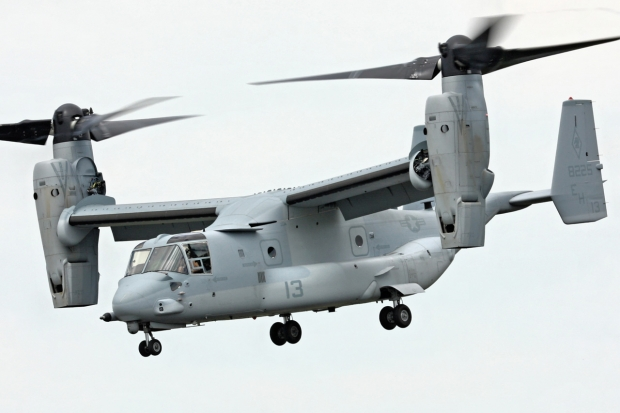 Фамилията V-22 достигна нальот от 500 000 часа