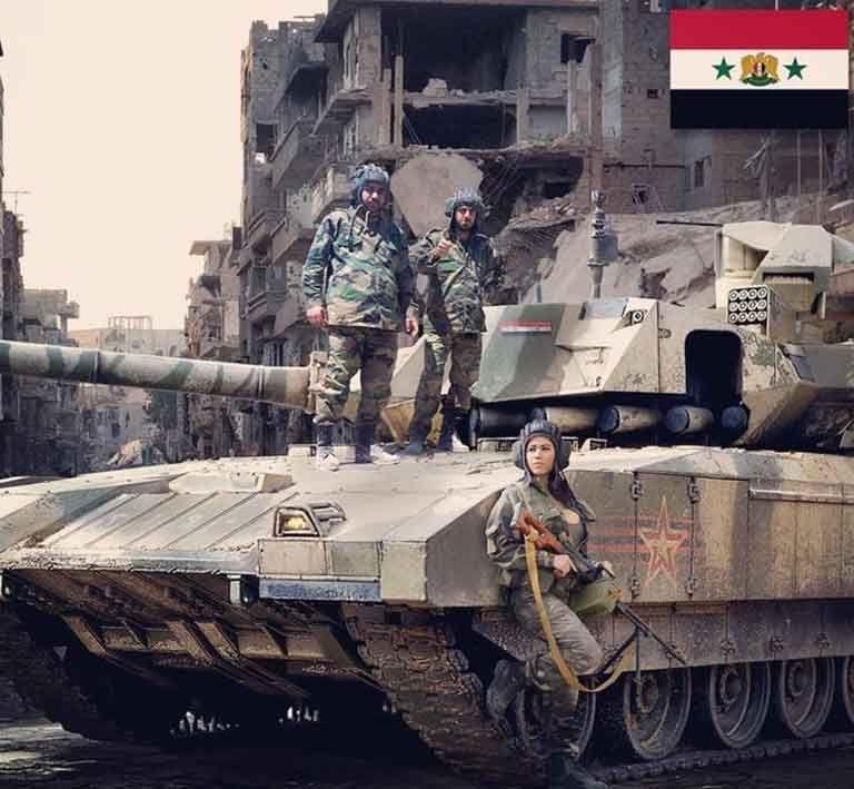 """Снимката с руския танк """"Армата"""" в Сирия се оказа фалшива"""