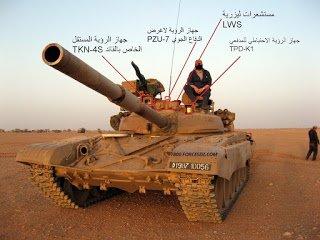Особеностите на модернизирания  в Алжир T-72M1M
