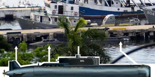 """Забелязана е """"асиметричната"""" кубинска подводница Delfin"""