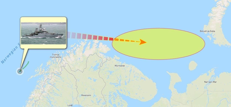 Британският кораб HMS Echo цял месец е разузнавал до границите на Русия