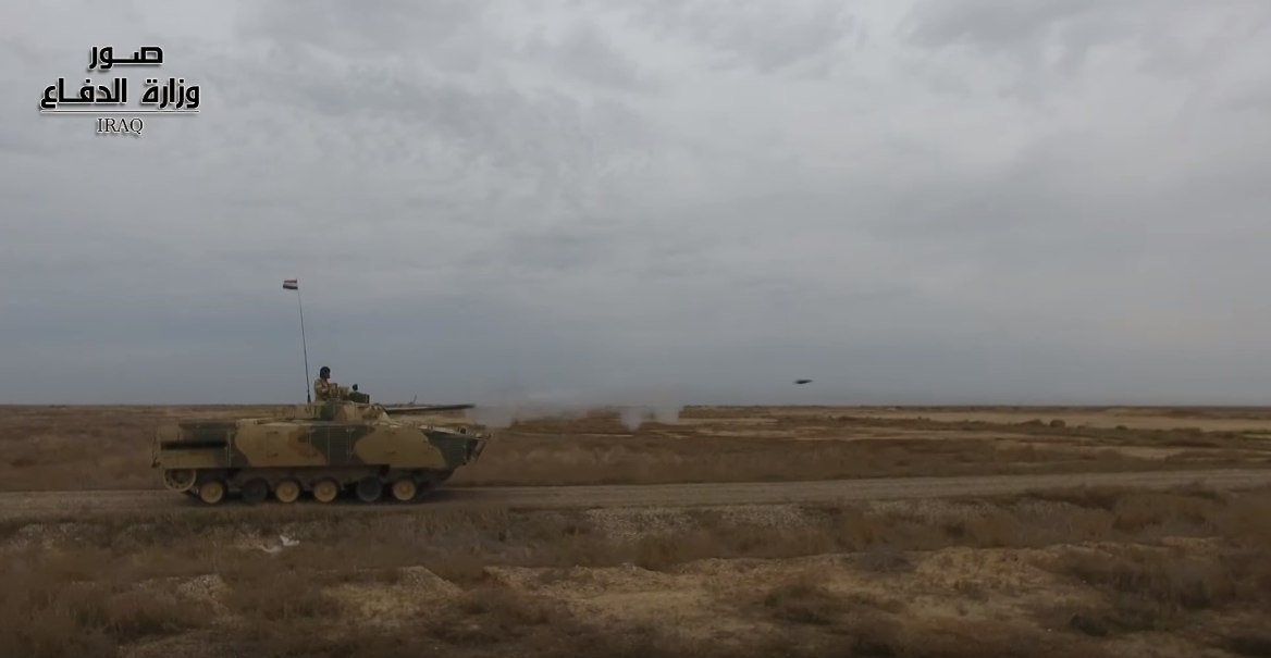 Последната модификация на БМП-3 иракчаните успешно овладяват