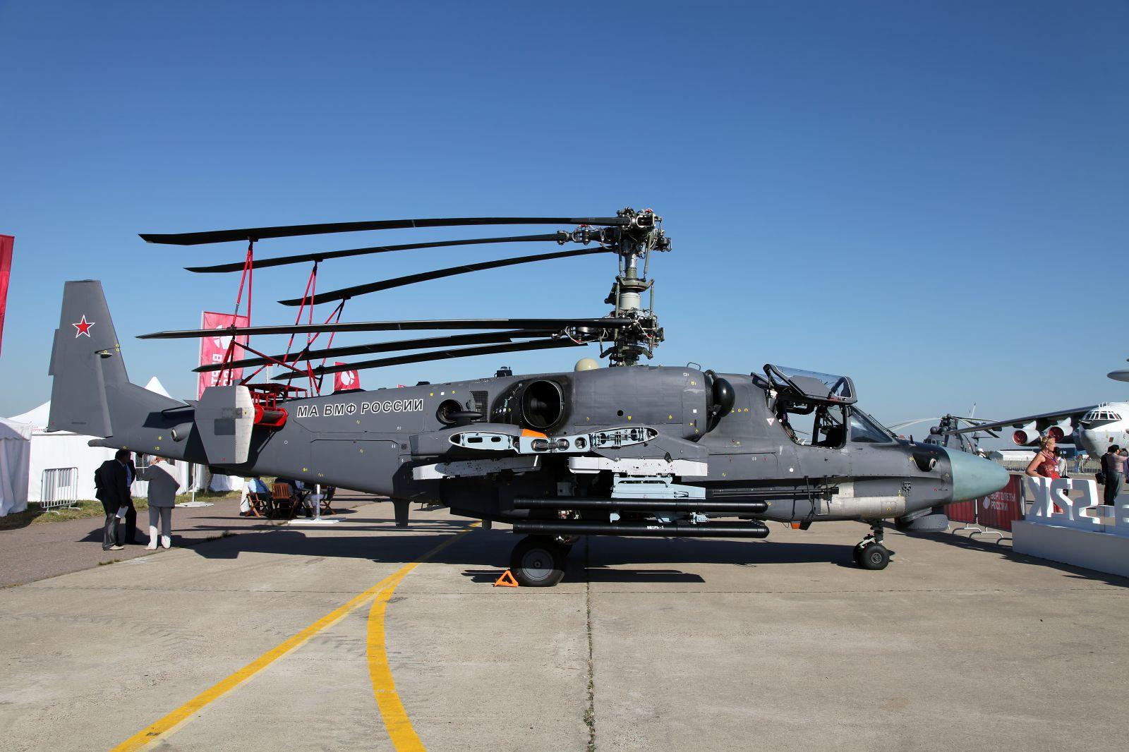 Китай ще закупи от Русия 36 хеликоптера Ka-52K Katran