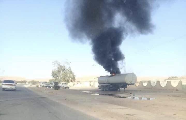 Турски дронове изгориха машини за снабдяване на Хафтар