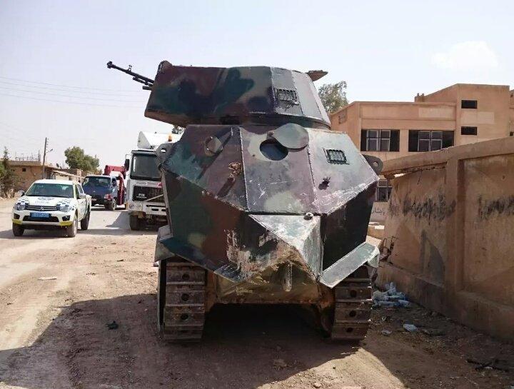 Кюрдите монтират куполи от БМП-1 на... трактори