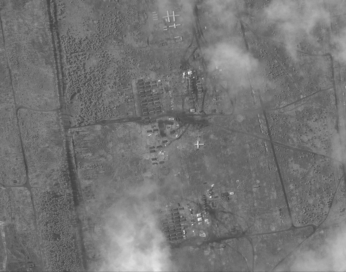 Полеви лагер на руската армия в близост до украинската граница, показаха от Космоса