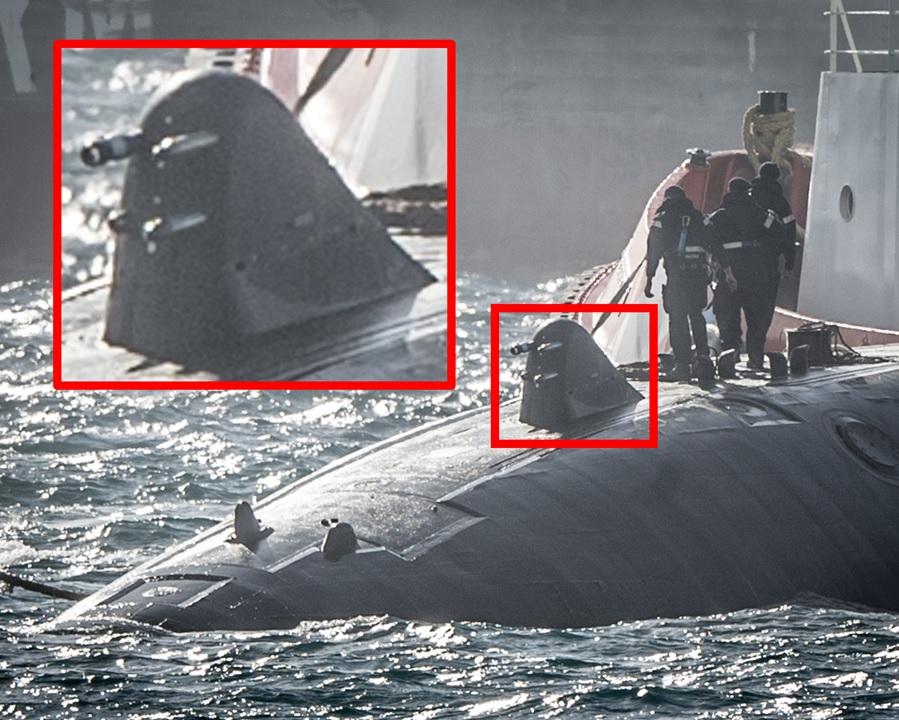 Допълнително устройство на британска атомна подводница
