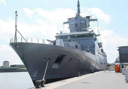 Германските ВМС получиха първата фрегата клас F125 с повече от година закъснение